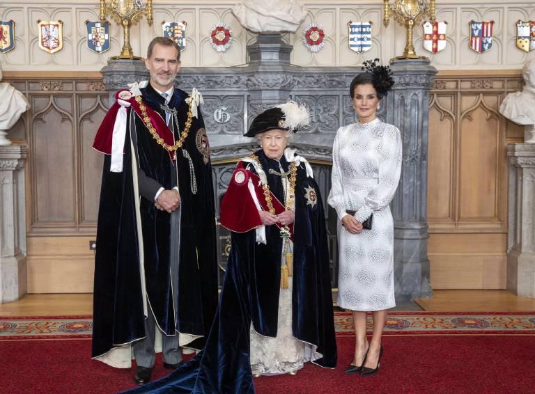 """König Felipe, genau wie König Willem-Alexander, erhielten bereits den Titel """"Stranger Knight"""" nach ihren Staatsbesuchen in Großbritannien.  ©imago images / PPE"""