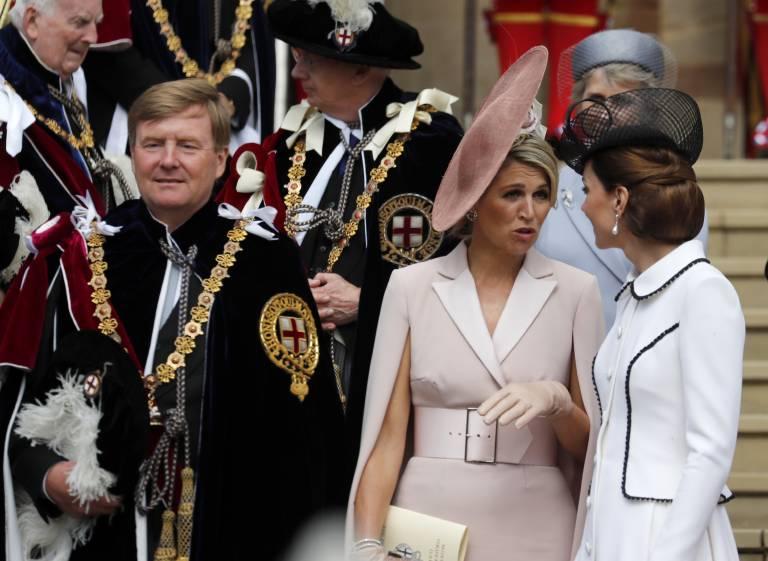 Königin Maxima und Herzogin Kate verstanden sich wieder einmal ziemlich gut. Die beiden Royals haben sich schon öfter getroffen.  ©imago images / i Images
