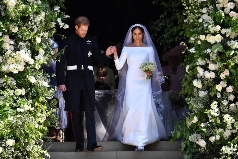 Am 19. Mai 2018 gab Prinz Harry der früheren Schauspielerin Meghan Markle das Ja-Wort. Die Kosten für die Sicherheitsvorkehrungen sollen etwa 34 Millionen Euro gekostet haben.  ©imago images / PA Images