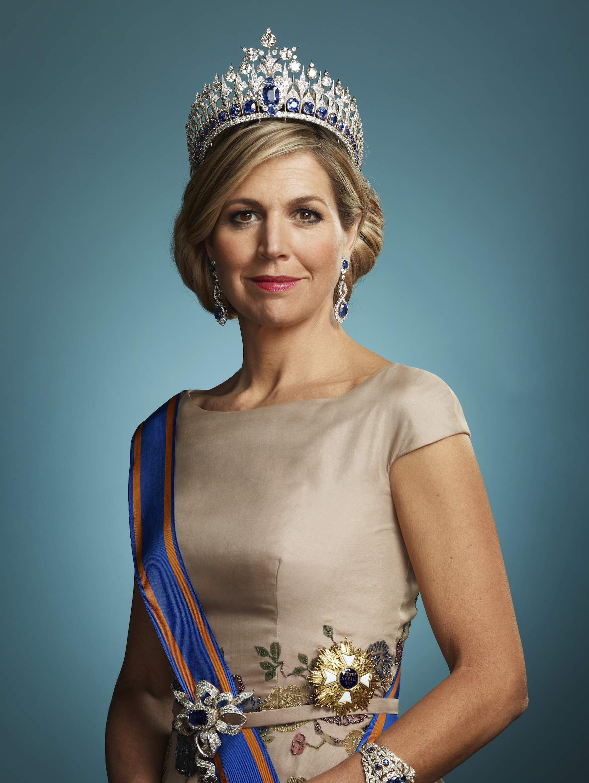 Königin Maxima trug das Familien-Juwel bei der Krönung ihres Mannes König Willem-Alexander 2013. © RVD - Erwin Olaf
