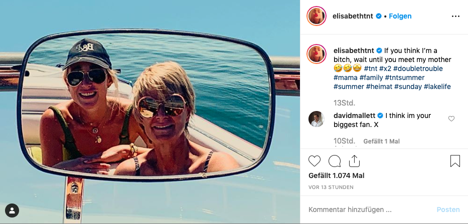 Was sind denn das für Töne? So seltsam spricht Elisabeth von Thurn und Taxis über ihre Mutter.  © https://www.instagram.com/elisabethtnt/