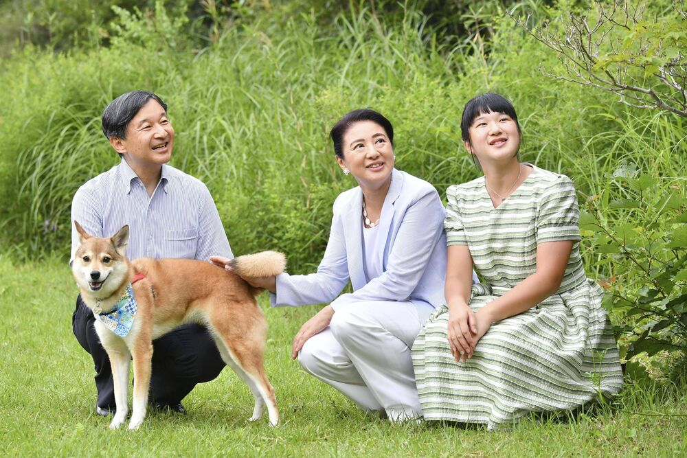 Familienhund Yuri wurde als Welpe von den japanischen Royals adoptiert.  © imago images / Kyodo News