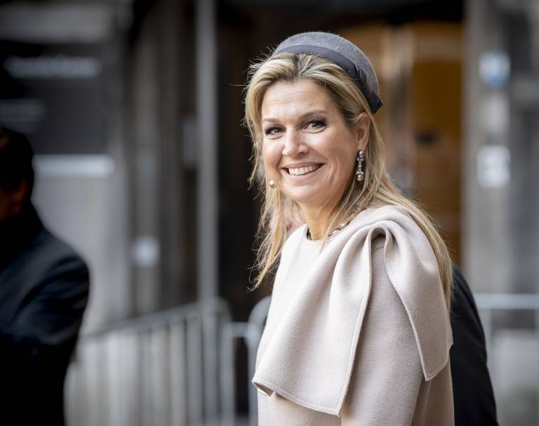 Königin Maxima wendet einen speziellen Trick an, damit ihre Kopfbedeckungen immer gut sitzen.  © imago images / Hollandse Hoogte