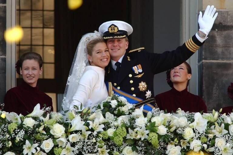 Glück und Tränen: Die Hochzeit von Willem-Alexander und Maxima sorgte für gemischte Gefühle.  © imago images / United Archives International