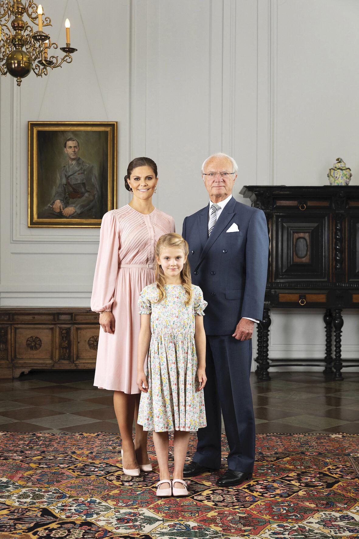 Das Dream-Team für die Krone: Kronprinzessin Victoria, König Carl Gustaf und Prinzessin Estelle.  © Sandra Birgersdotter Ek, Kungl. Hovstaterna