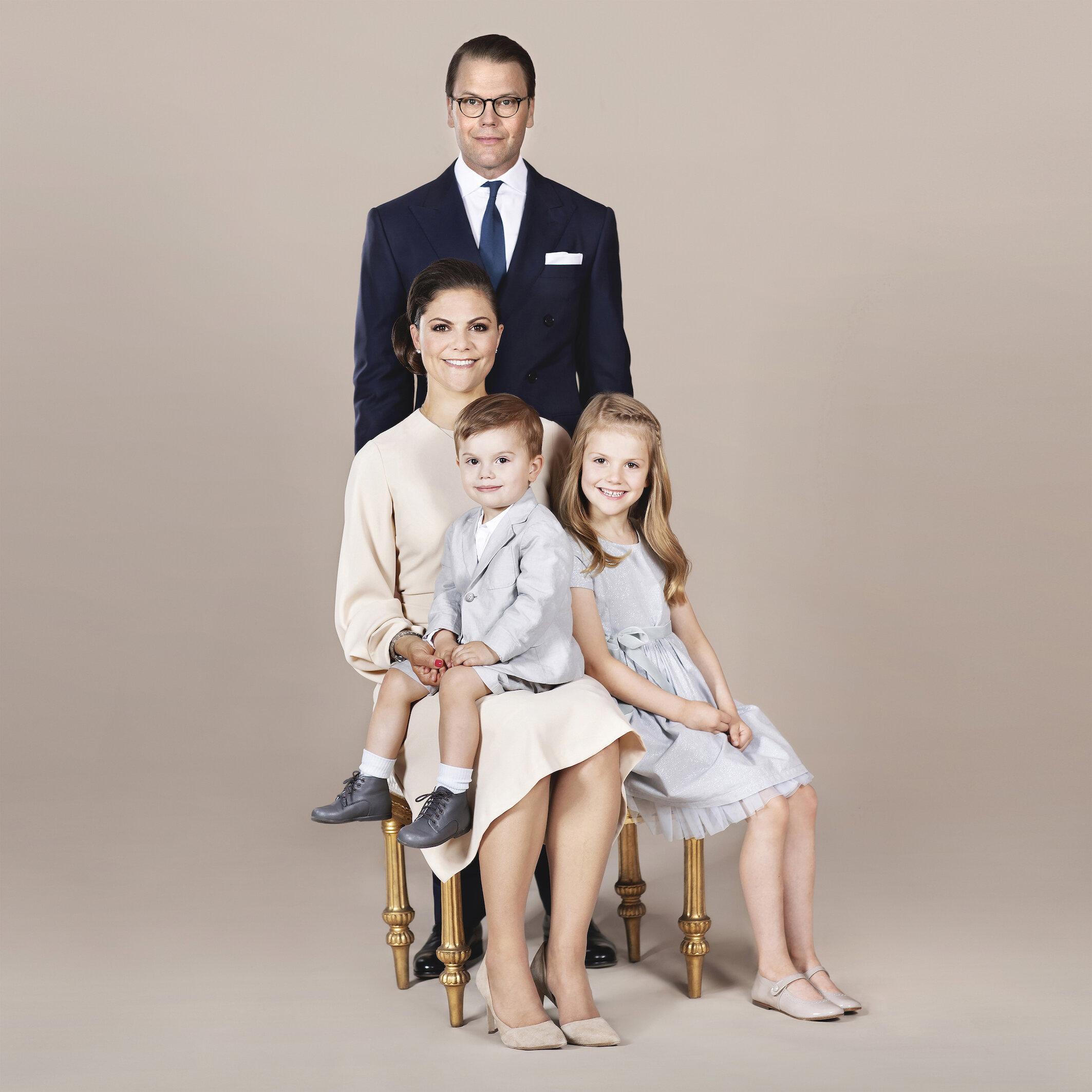 Kronprinzessin Victoria und Prinz Daniel haben Urlaub genommen, um mehr Zeit mit Prinz Oscar und Prinzessin Estelle zu haben.  © Linda Broström Kungl. Hovstaterna