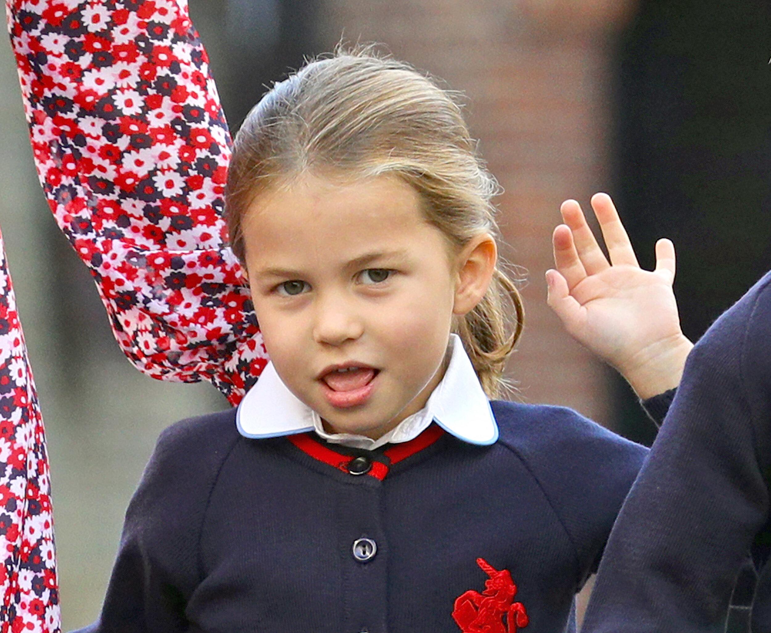 Prinzessin Charlotte – kann sehr schüchtern sein, ist manchmal aber auch ein kleiner Wildfang.  © picture alliance/AdMedia