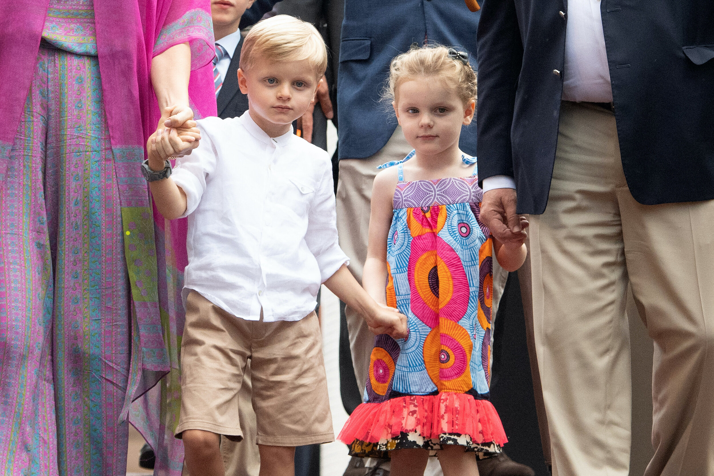 Erbprinz Jacques ist zwei Minuten jünger als seine Schwester Prinzessin Gabriella. © picture alliance / abaca