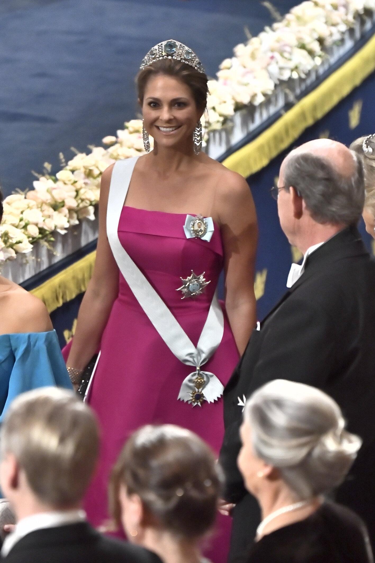 Prinzessin Madeleine sah in ihrem pinkfarbenem Kleid einfach wunderschön aus.  © picture alliance/TT NEWS AGENCY