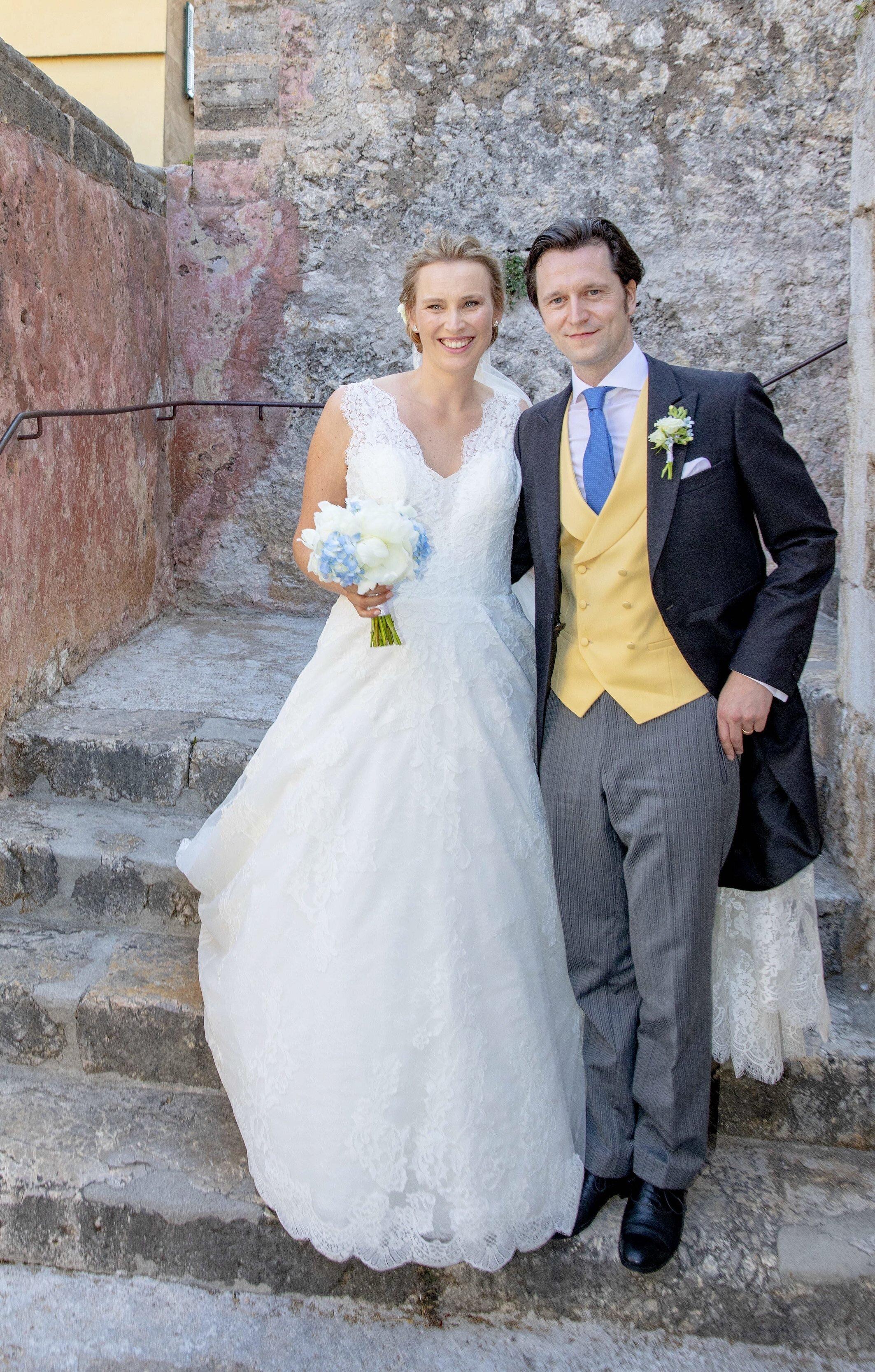 """Joachim von Preußen und Angelina Gräfin zu Solms-Laubach sagten auf Mallorca """"Ja"""". © picture alliance/RoyalPress Europe"""