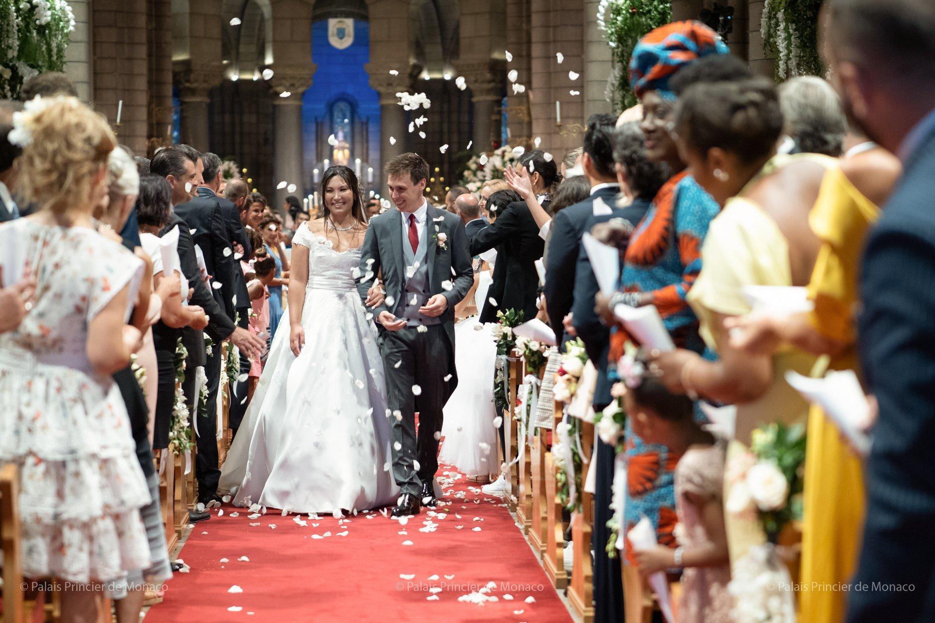 Marie und Louis Ducruet heirateten in einer emotionalen Zeremonie. © Palais Princier de Monaco
