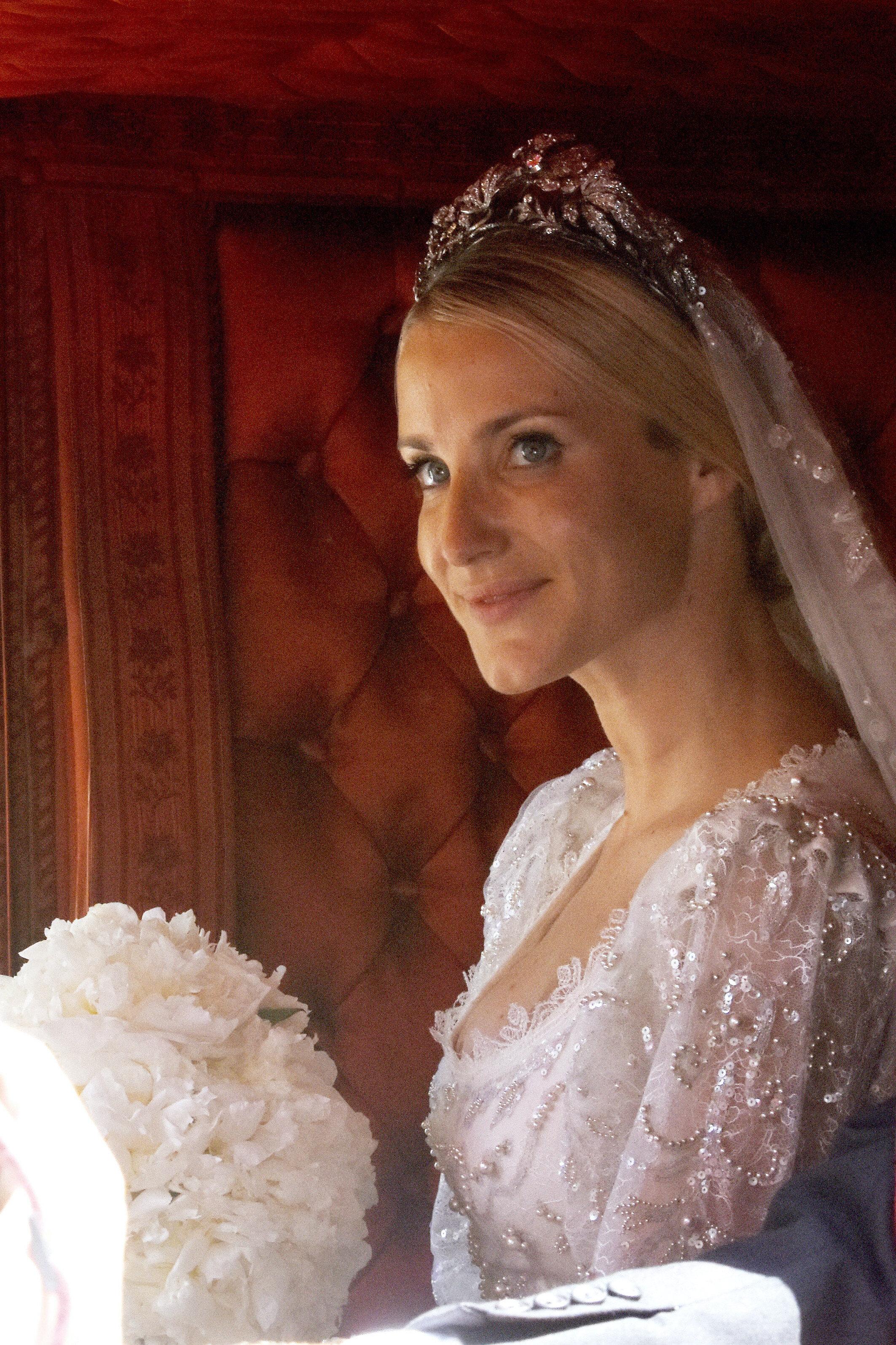 Die Tiara stammt von Viktoria Louise, einer Urgroßmutter von Ernst August. © picture alliance/Geisler-Fotopress