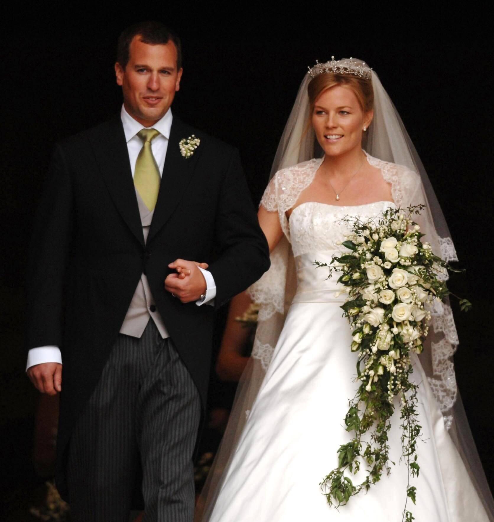 Wieder eine Trennung im britischen Königshaus: Auch die Ehe von Peter und Autumn Phillips stehet offenbar vor dem Aus. Das Paar hatte 2008 geheiratet.  © dpa