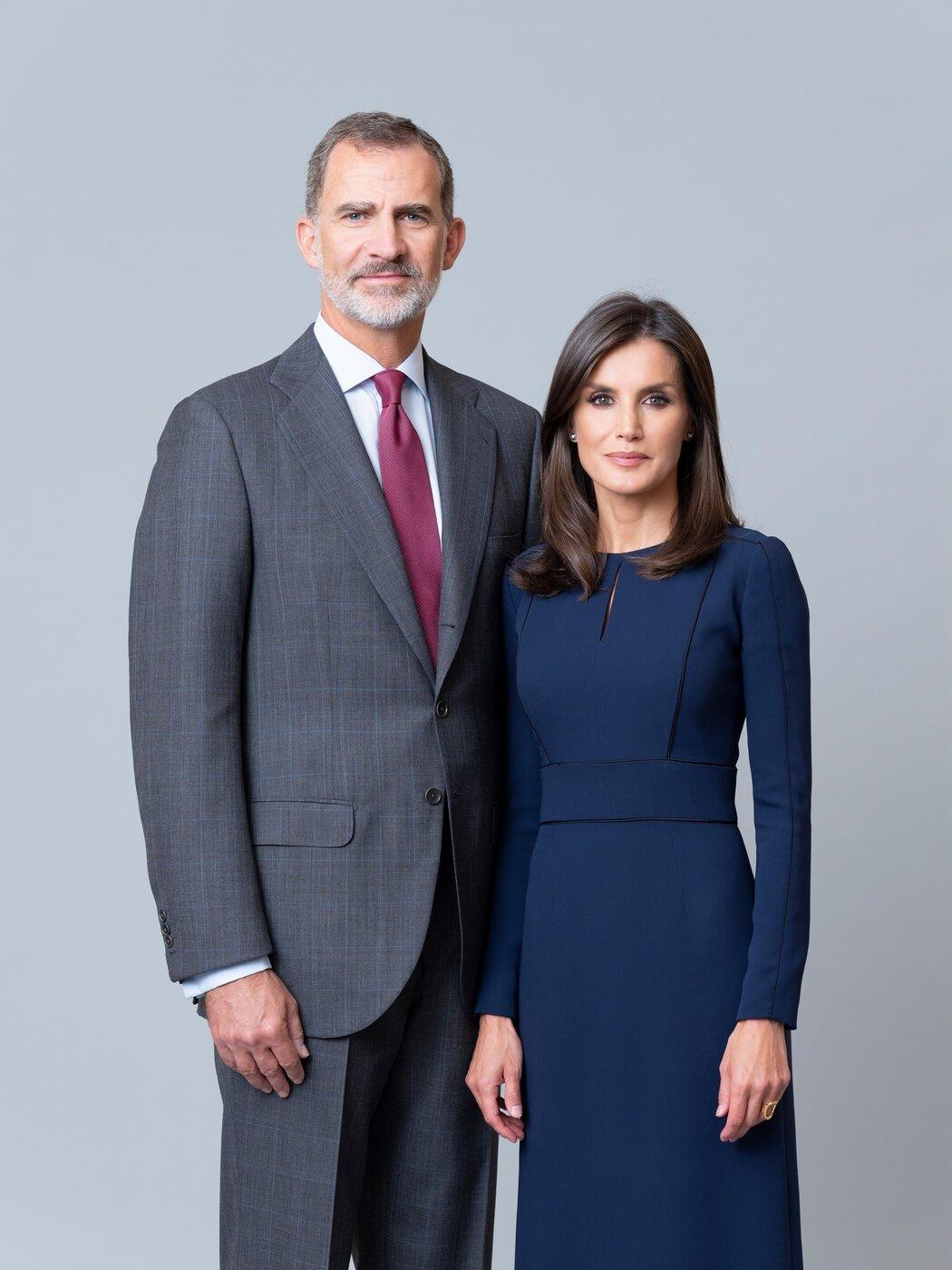 König Felipe und Königin Letizia wirken auch bei öffentlichen Terminen mehr wie Kollegen, als wie ein glückliches Ehepaar.  © Casa de S.M. el Rey, Estela de Castro