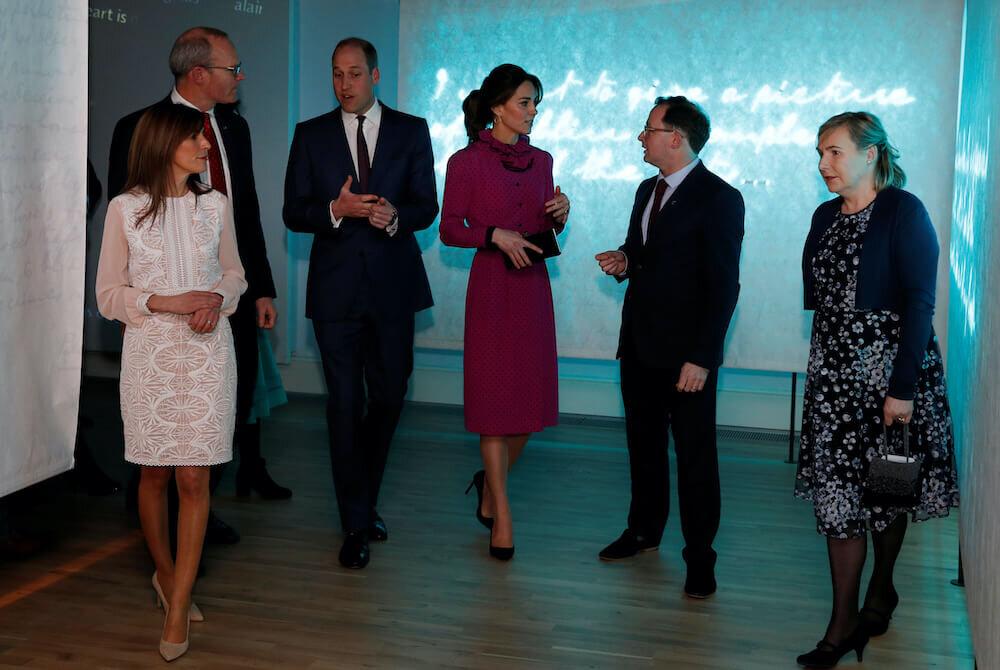 Zu Ehren von Herzogin Kate und Prinz William lud Außenminister Simon Coveney zu einem Empfang ein. ©picture alliance / AP Photo