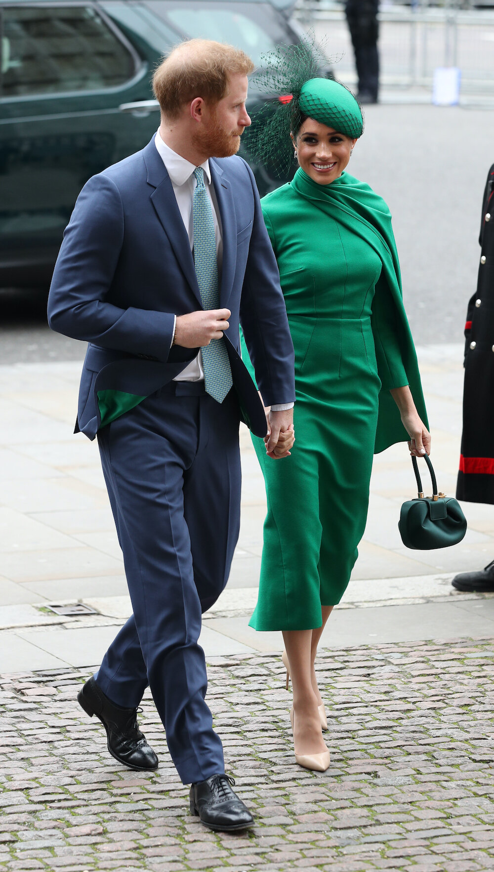 Prinz Harry und Herzogin Meghan kamen vor Herzogin Kate und Prinz William in der Westminster Abbey an. © picture alliance / empics
