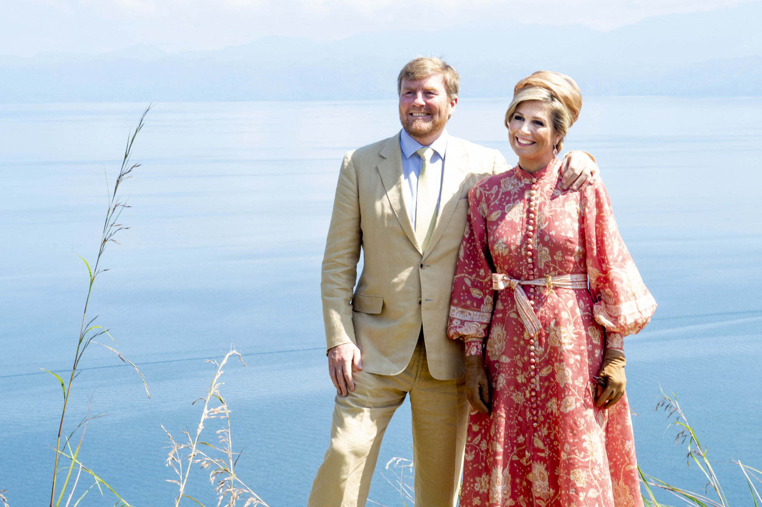 König Willem-Alexander und Königin Maxima besuchten diese Woche trotz Coronakrise Indonesien.  © picture alliance / abaca