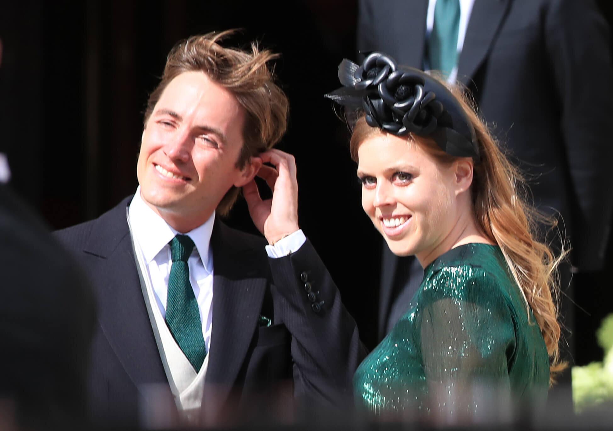 Prinzessin Beatrice und Edoardo Mapelli Mozzi wollen im Mai die Ringe tauschen. Müssen sie ihre Hochzeit nun verschieben?  © picture alliance / empics