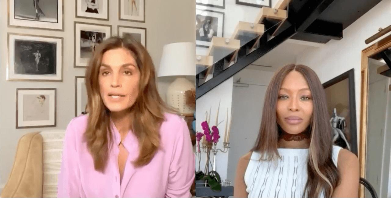 In einem Livechat plauderten Cindy Crawford und Naomi Campbell über ihre Treffen mit Prinz William.  © No Filter with Naomi: Cindy Crawford /YouTube