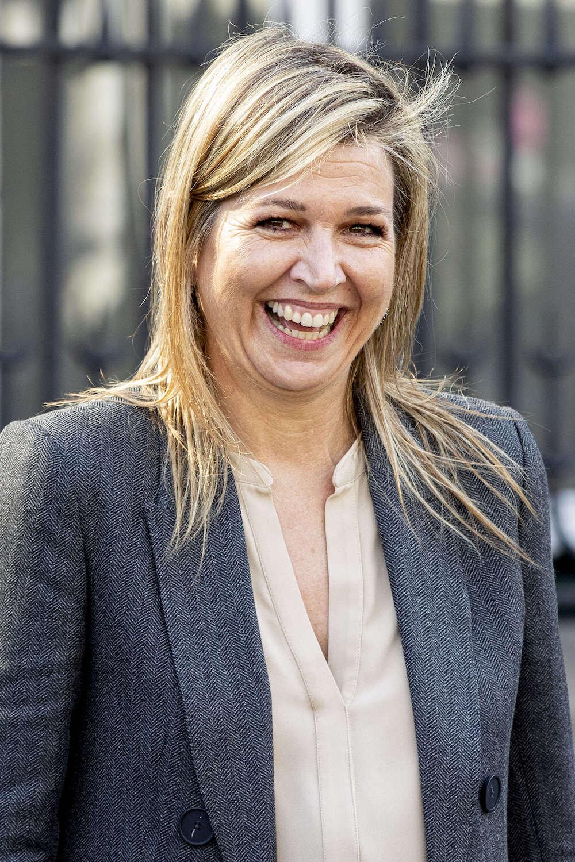 Königin Maxima lächelt für die Kameras. Denn sie weiß, welche Wirkung die Bilder einer positiv gestimmten Königin haben.  © picture alliance/RoyalPress Europe