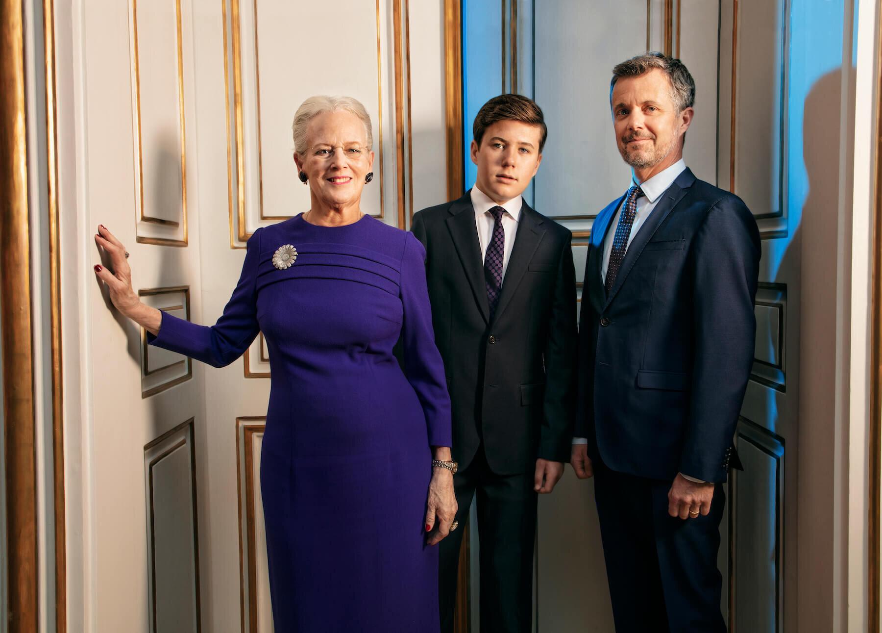 Kronprinz Frederik und Prinz Christian stehen als Thronfolger schon bereit. Königin Margrethe denkt aber gar nicht daran, abzudanken.  © Per Morten Abrahamsen / Danske Kongehus