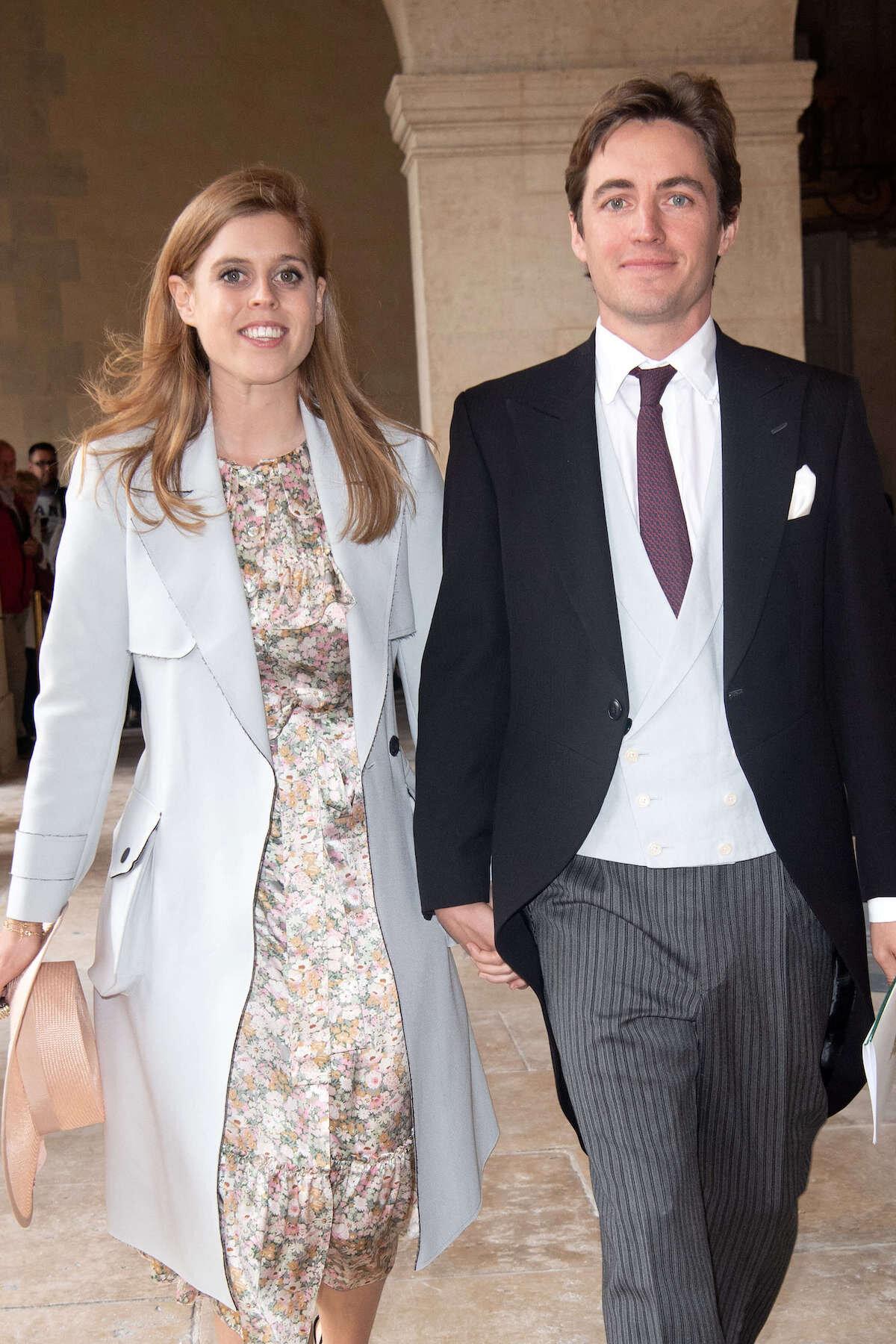 Prinzessin Beatrice ist seit September 2019 mit dem Immobilienunternehmer Edoardo Mapelli Mozzi verlobt. Ihre geplante Hochzeit muss jedoch verschoben werden.  © picture alliance / abaca