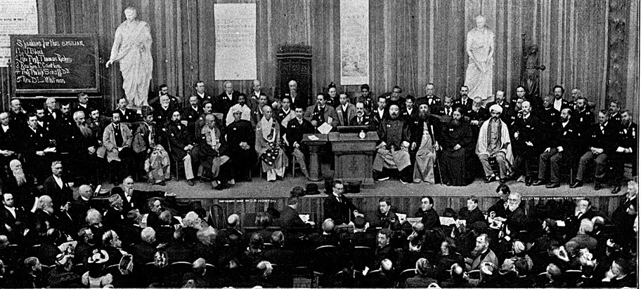 The First Parliament of the World's Religions in Chicago, 1893.   Source:    Parliament of the World's Religions