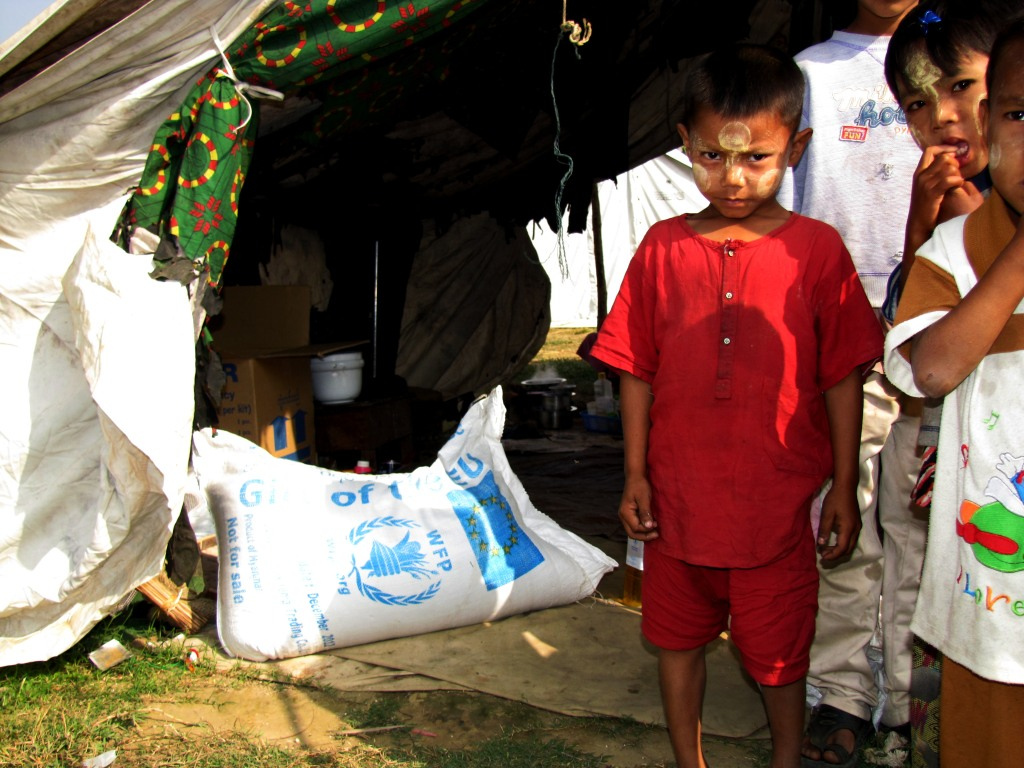 Foreign aid is essential for the survival of Rohingya Musilms living in internment camps.  Source:  European Commission