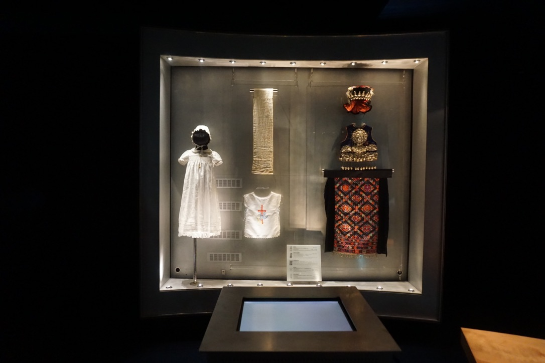 Various religious objects on display in the Journey of Life exhibit.