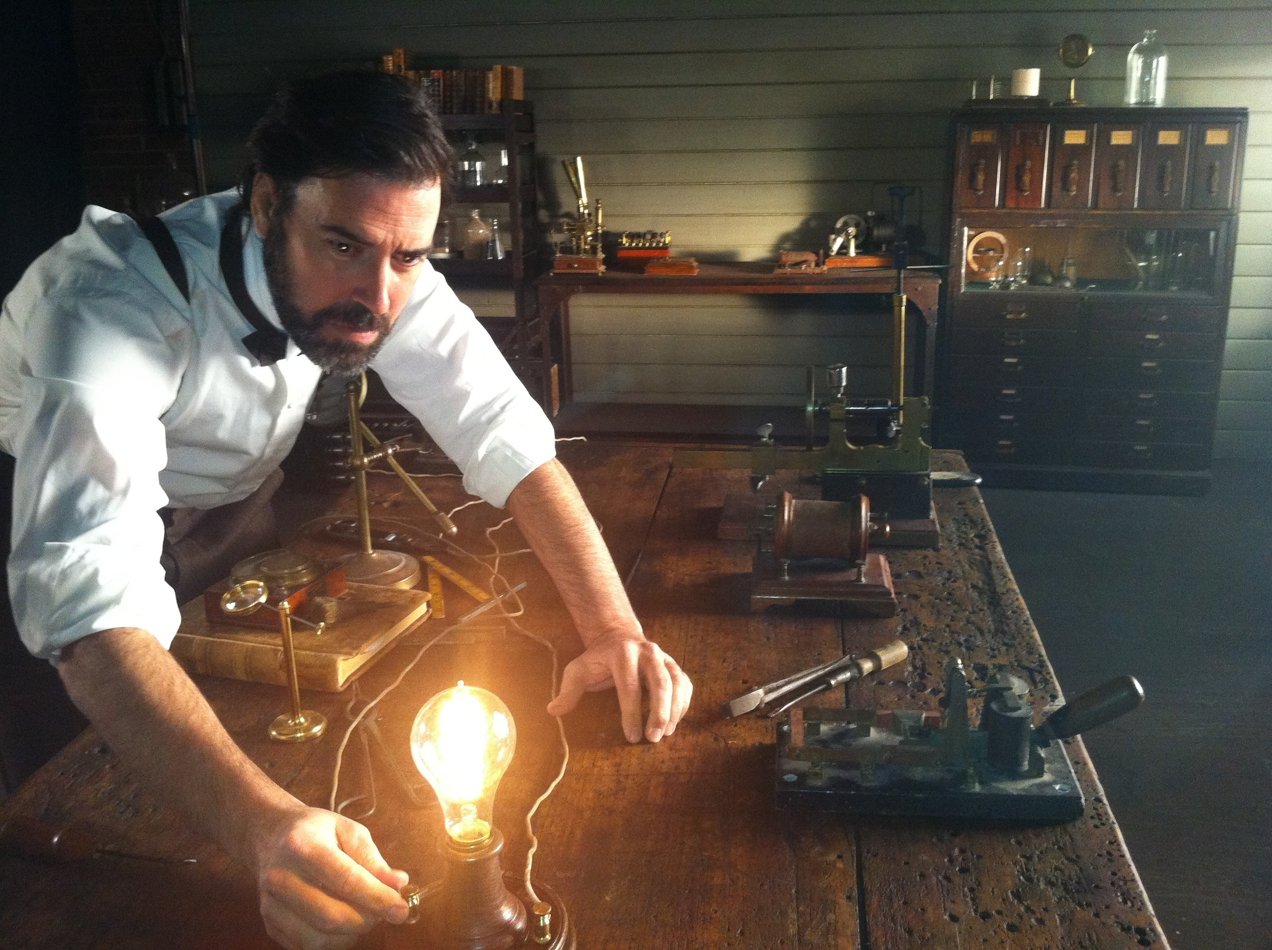 """BELL COMMERCIAL as """"Young Edison'."""