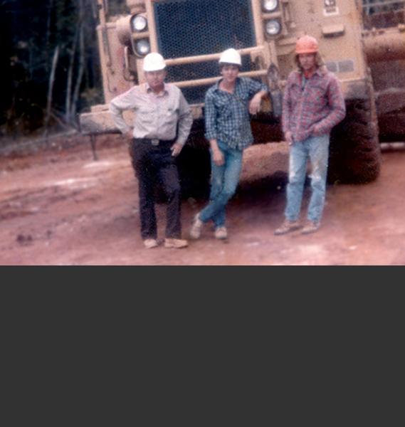 Morgan Corp team members in the late 1970s