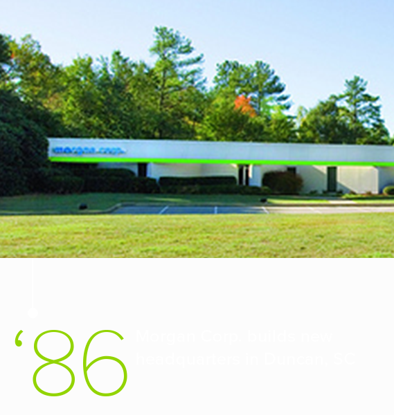 Morgan Corp's new headquarters building in 1983