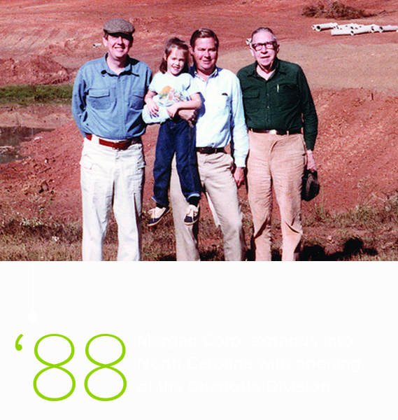 Johnson Family on project site near Charlotte, NC in 1988