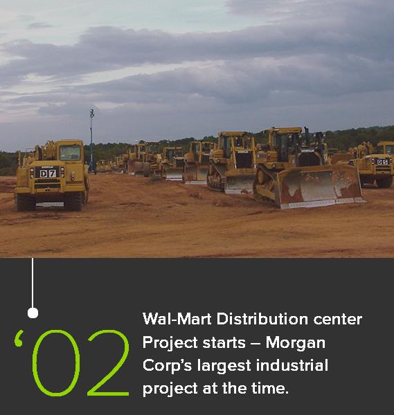 Walmart Distribution Center job site in 2002