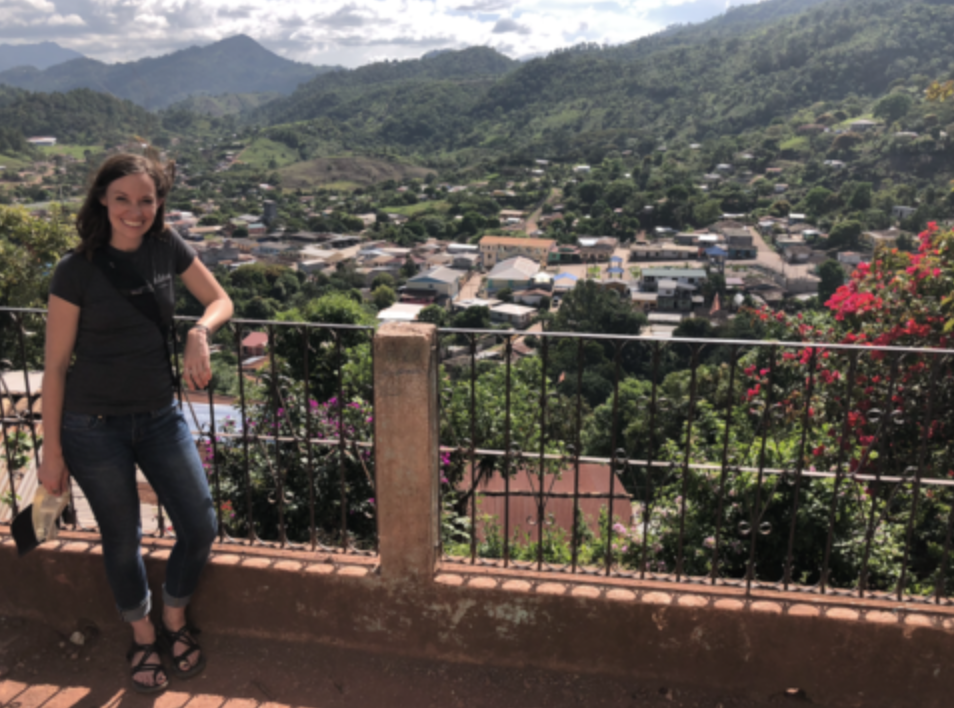 Goode visiting Honduras, where Aldea Coffee began in 2009.