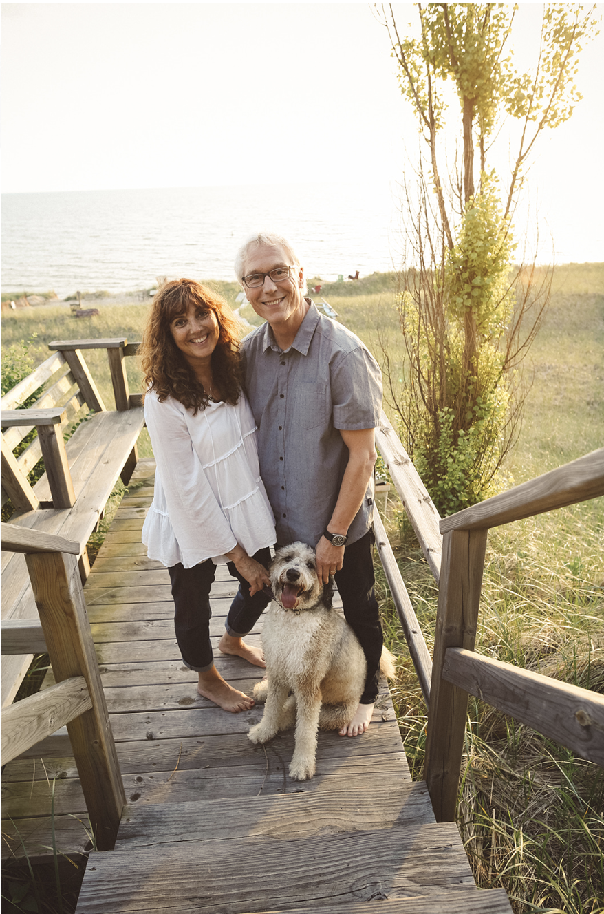 Binnie and husband Bill, the most in love couple ever, with their dog Ruby Tuesday. Thank you  Jenn Marie Photography  for the amazing picture!