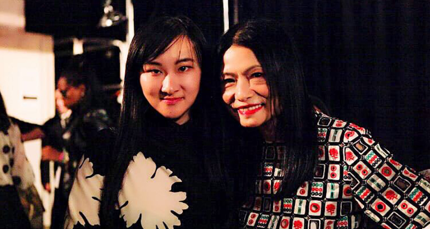 AmeriChina Group Founder Margaret Yang with famous designer Vivienne Tam at NYFW
