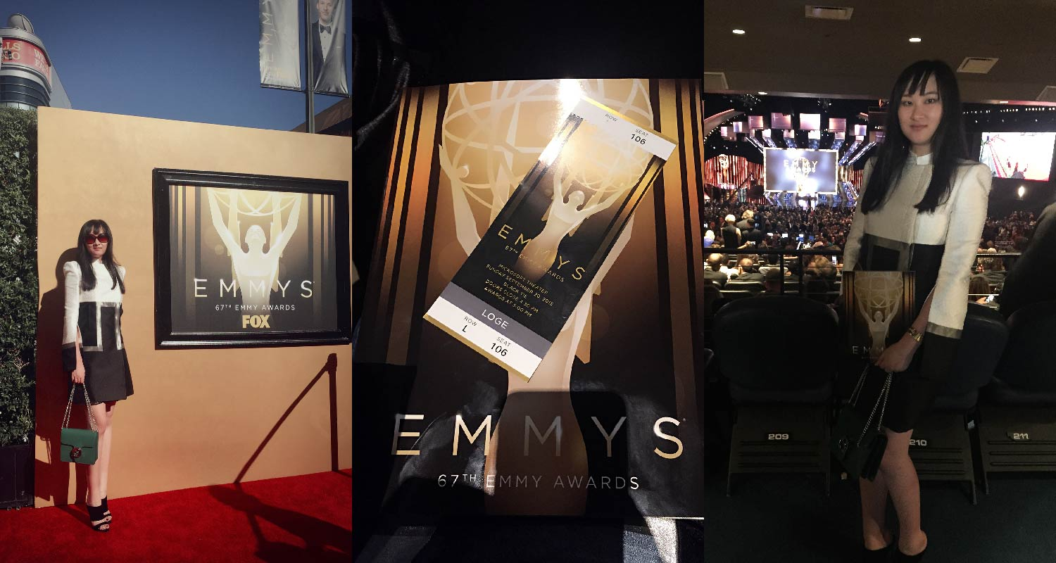 AmeriChina was invited to the 57th Emmy Awards Ceremony / Founder of AmeriChina at the Emmy Award Ceremony