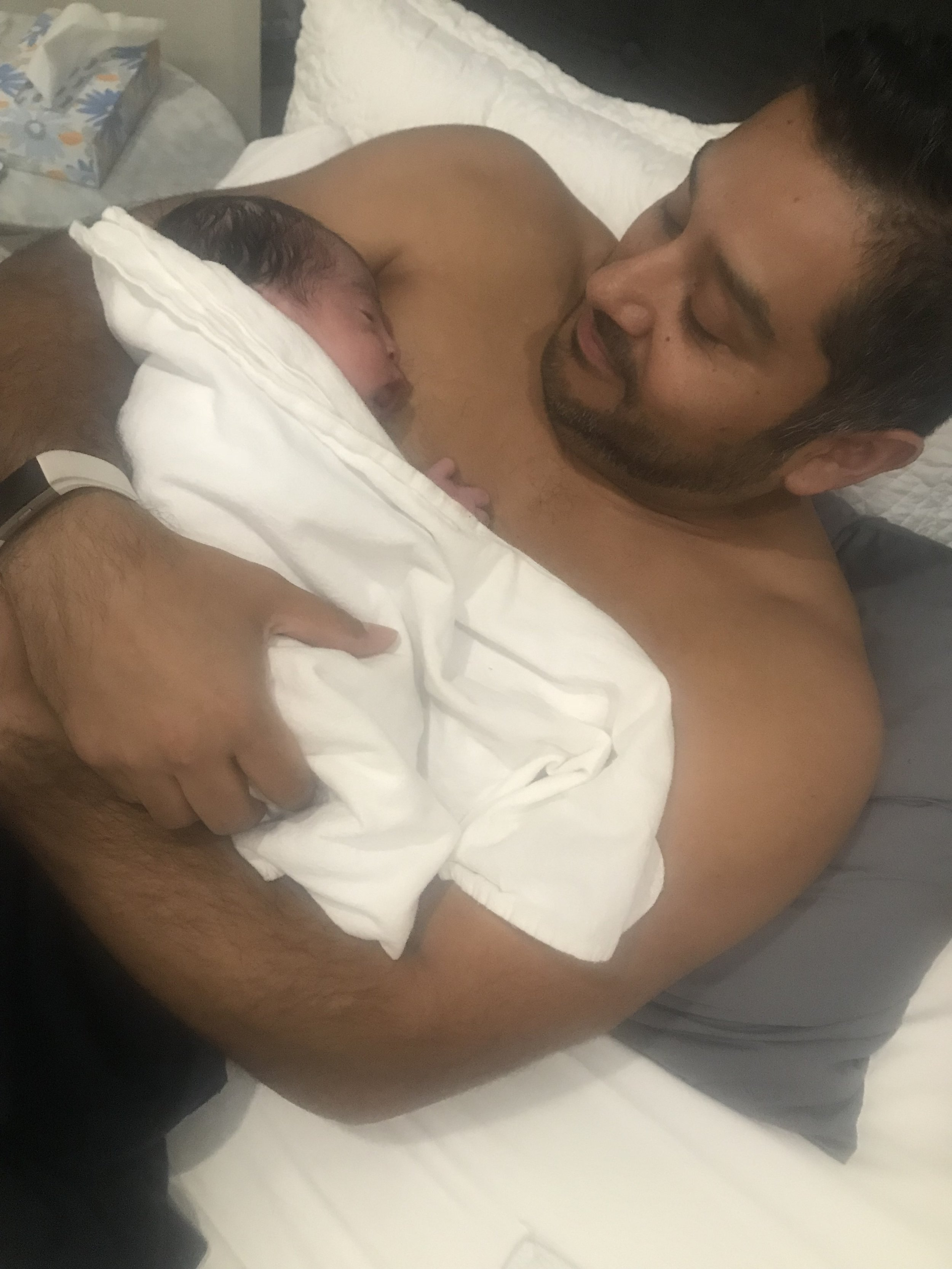 father and son's first moments