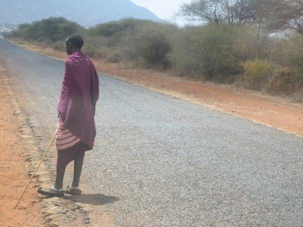Masai Warrior, Tanzania. On the road to Mt. Kilimanjaro