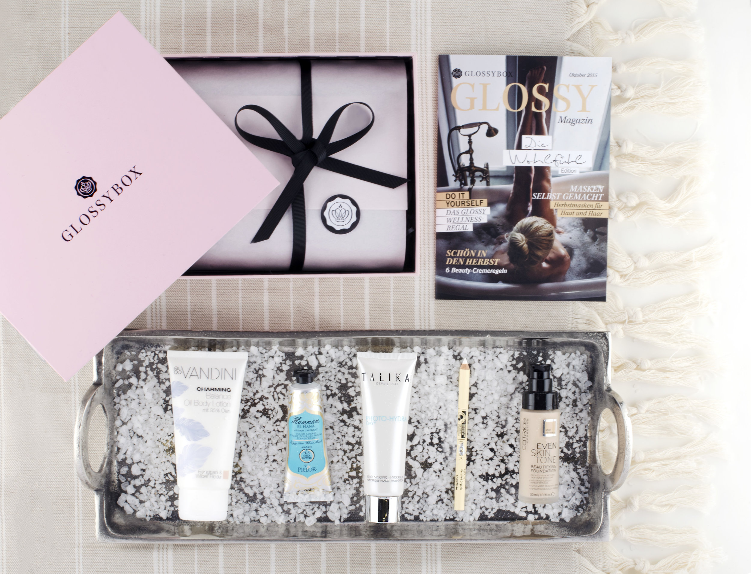 WOHLFÜHL (WELLNESS) EDITION  October 2015, Glossybox Germany