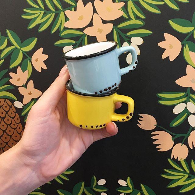 The mini mugs are back! Because your espresso should be consumed with a smile!! . . . . . . #canadiana #canadian #coffeedrinker #espresso #colourful #minieverything #coffee☕ #canadian #camping #cabinlife #lifeatthelake #caffeinedaily #potandpantry613 #idigelgin #elginstreet #ottawa #downtownottawa #shopottawa #ottawastyle #ottawaigers #ottawafoodies #myottawa