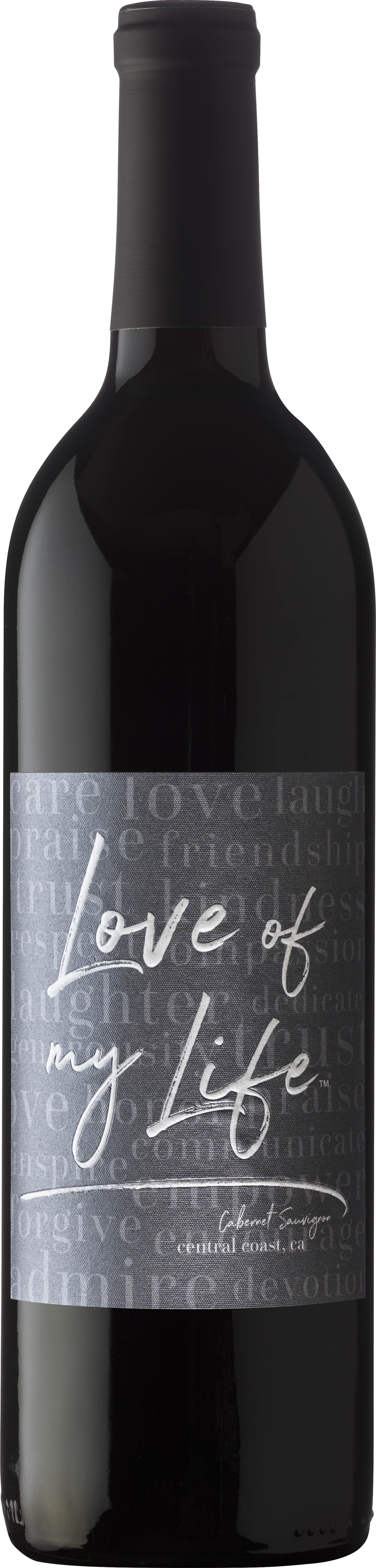 "Love Of My Life - Cabernet Sauvignon, often called the ""king of red grapes"" has a rich deep color with ripe berry aromas and blackberry with pepper notes.  It has moderate tannins and a lush mouthfeel with a toasty finish.PAIR WITH:Beef, Lamb, Pork, Venison, Duck, Cheddar Cheese, Pears, Peaches.GIFTING:Wedding ProposalWedding ShowersWeddingRehearsal DinnerCommitment CeremonyValentines DayBirthdayBirth of a babyAnniversary"
