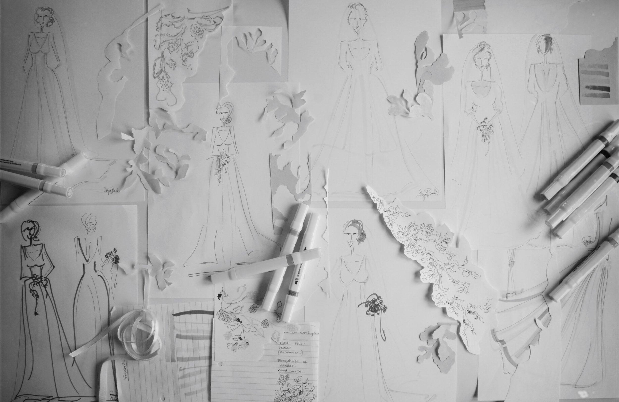brudekjole design
