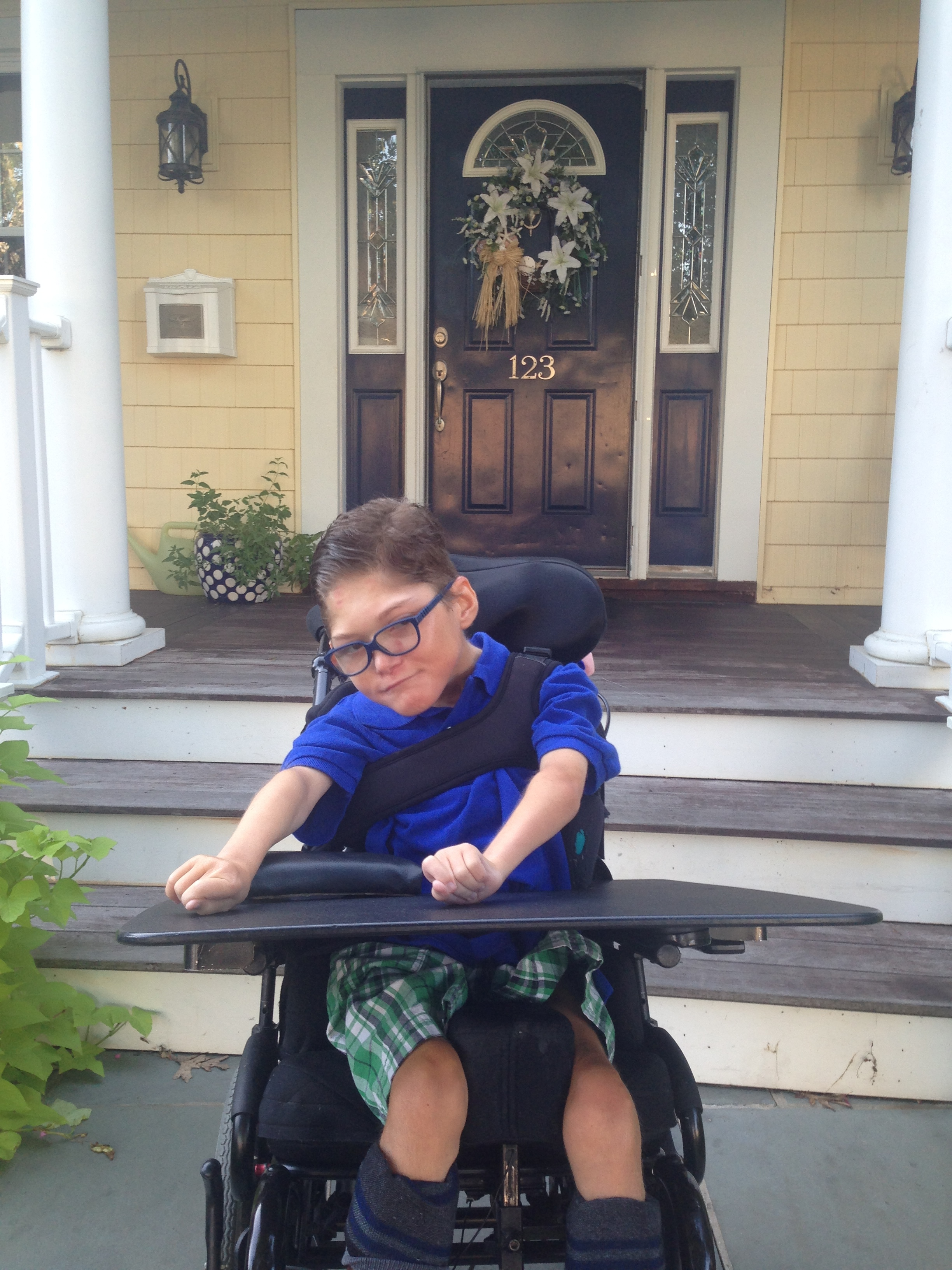 Chase Callahan  - Chase is a Rockville Centre child with cerebral palsy.  A special needs all terrain stroller was purchased for his family in order to make trips to the beach and hiking easier for the them.  A removable wheelchair ramp was also purchased with the funds.