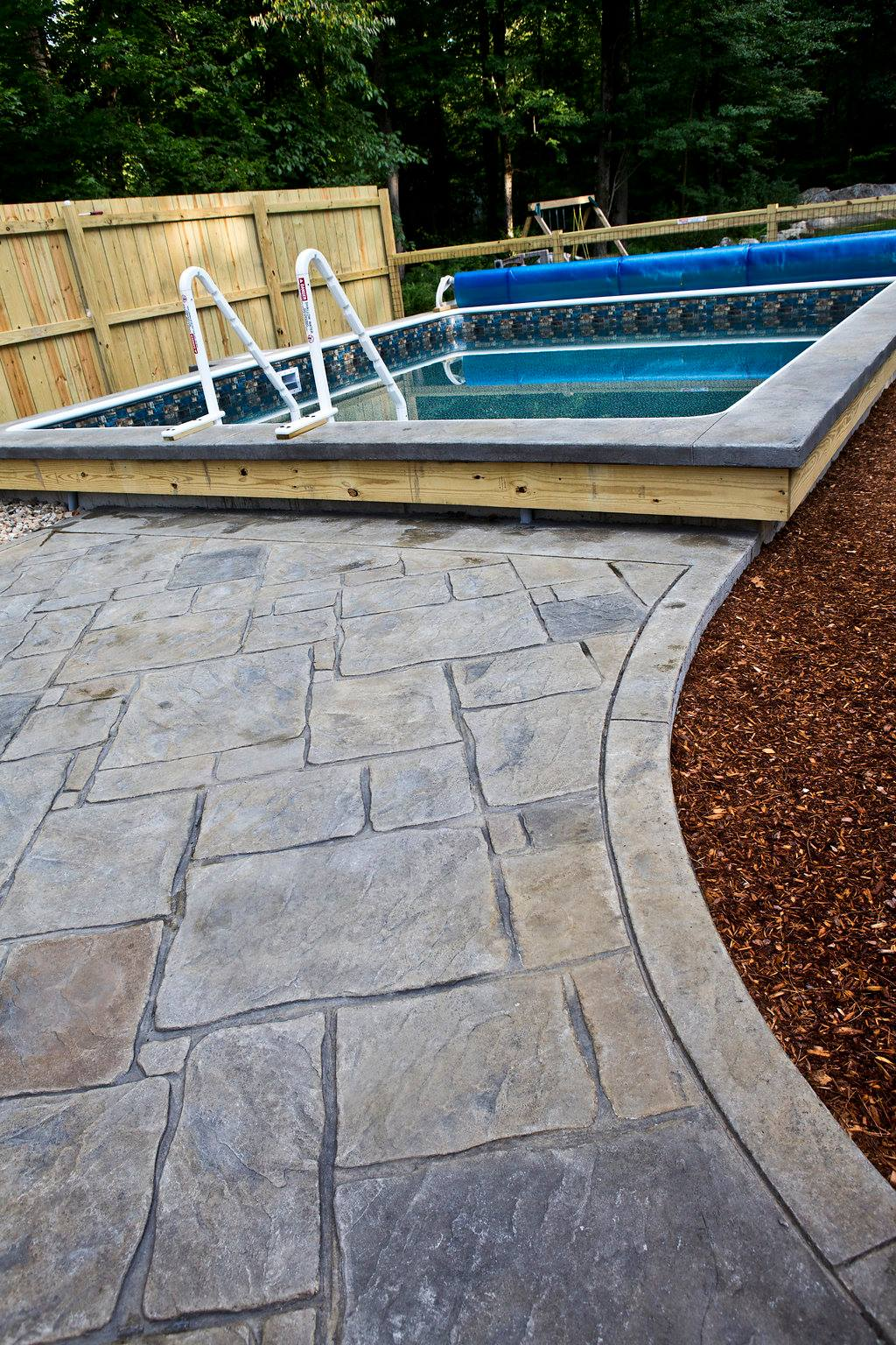 Concrete Pool Deck in Amherst, New Hampshire
