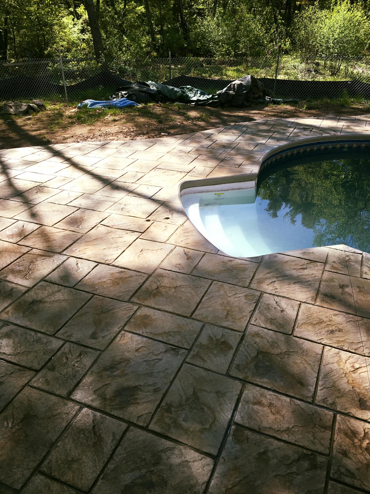 Concrete Pool Deck in Hollis New Hampshire
