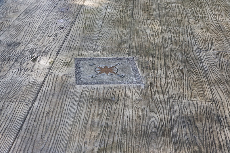 Wood Grain Pattern Stamped Concrete