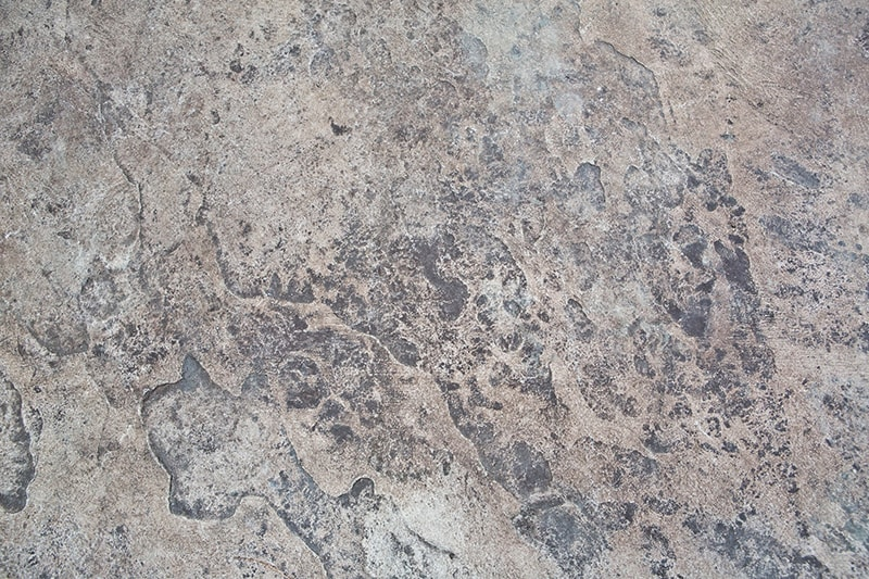 Textured and Colored Stone Pattern Stamped Concrete