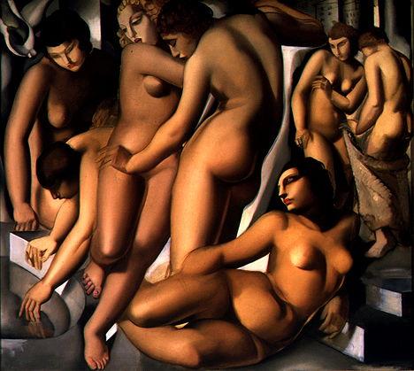 IMAGE: WOMEN BATHING BY TAMARA DE LEMPICKA (1929)